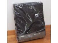 John Lewis Pencil Pleat Cotton Curtains Black 228 x 182cm