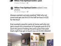 Willow tree spiritual centre thanks 37 whalley road accrington bb5 1AS