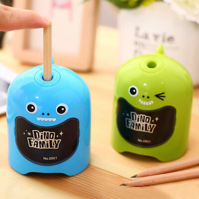 Dinosaur Cartoon Electric Pencil Sharpener Battery Operated Gift Office Supplies