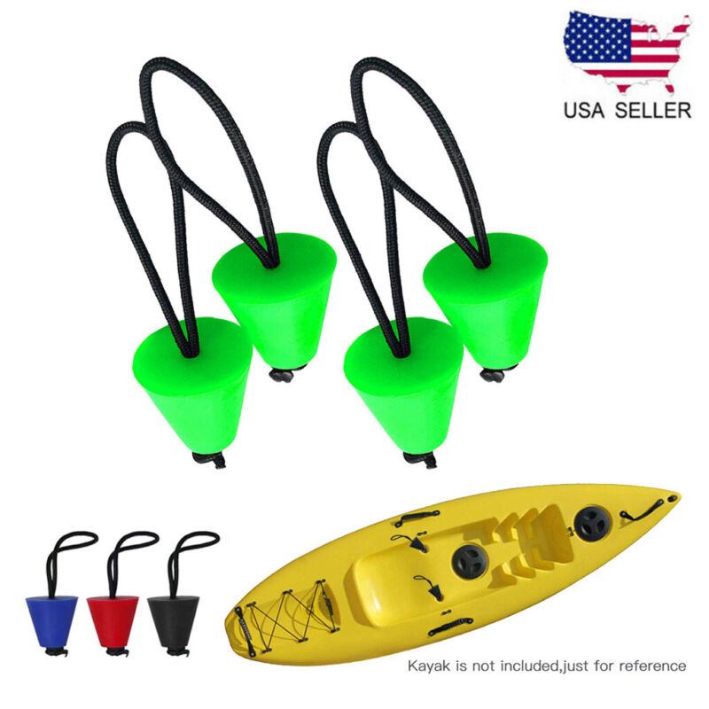 4PCS Silicone Kayak Scupper Plug Kit Canoe Drain Holes Stopper Bung Universal