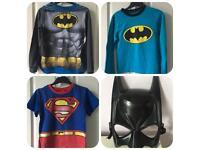 Boy's Superhero (Batman & Superman) Pyjamas, 3 pairs, 7-8 years