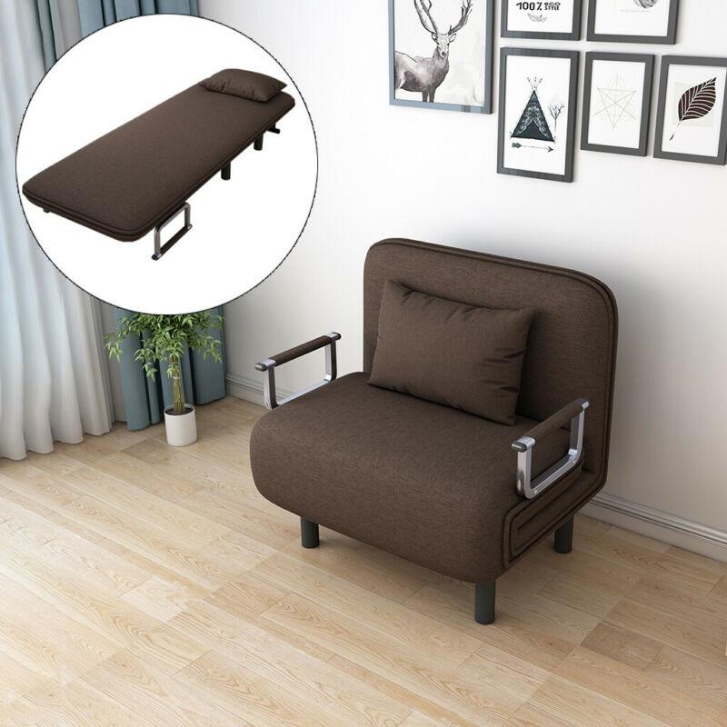 Convertible Sofa Bed Folding Arm Chair Sleeper Leisure Recli