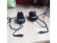 N. 2 Blackberry Chargers - British + EU Plugs / £5.00
