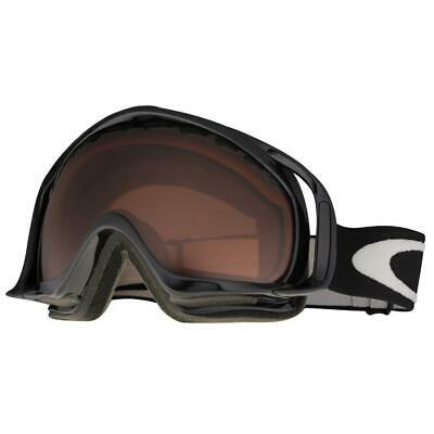 Oakley 02-851 Crowbar Jet Black Frame VR28 Lens Mens Snow Board Ski Goggles .