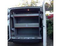 Bott metal van racking, removed from 2012 Transit 245