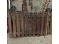 Pine wooden gates