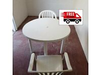 Garden table & 2 chairs (delivered free)