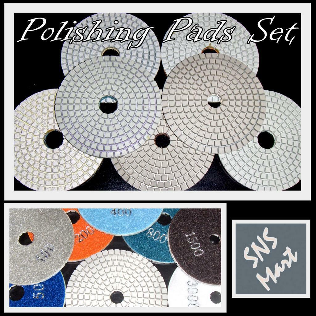 "Diamond Polishing Pads 4/"" Wet//Dry Granite Marble Concrete Stone 10PC Grit 30"