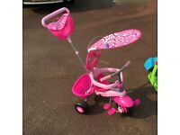 Pink Trike. Excellent condition. REDUCED PRICE PERFECT FOR CHRISTMAS
