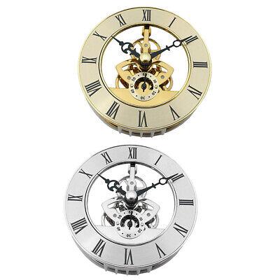 86mm Metal Skeleton Clock / Watch Insert, Quartz Movement, Roman Number Dial ()