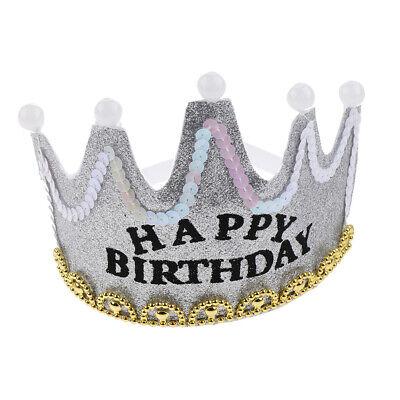 Alles Gute zum Geburtstag Krone Hut LED Stirnband Cap Tiara - Led Band Kostüm