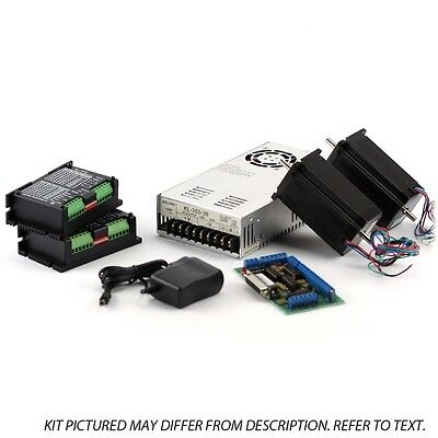 2-axis Nema23 Cnc Kit 48v7.3a 570 Oz In Kl-5056 Stepper Driver