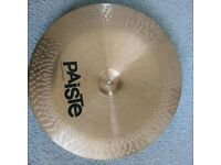 PAISTE 502 18 INCH CHINA CYMBAL EXCELLENT CONDITION AND SOUND