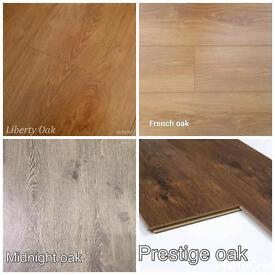 """Laminate Flooring HDF 8mm Thick Top High Quality Only £9.99 """"SQM"""" 4 Colours Available"""