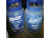 two empty 7kg Butane gas bottles