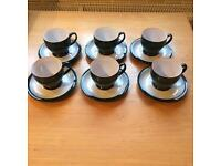 Denby Greenwich teacups and saucers