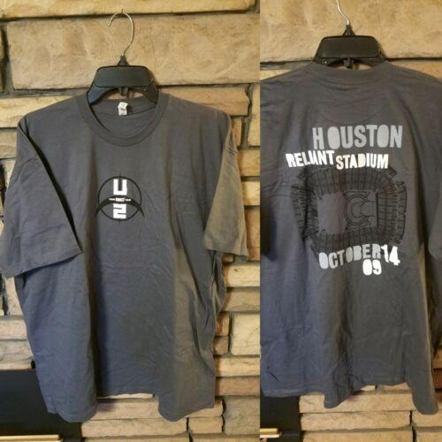 U2 Shirt size 2XL Short Sleeve t 360 Tour Exclusive gray HOUSTON 10/14/09 Show