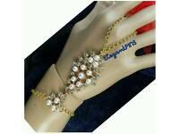 New Gold Hand chain- Jewellery Gift Fashion Ladies Women Wedding