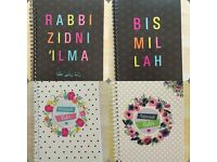 Islamic themed notebooks