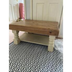 Soild rustic coffee table