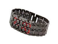 Lava Style Iron Samurai Black and Silver Bracelet LED Watches for 5 pounds- see pictures