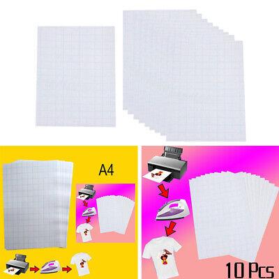 Printable Heat Transfer Paper For Iron On T Shirts Fabrics Bags Diy Light 10pcs