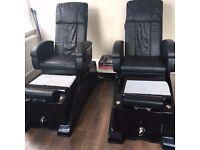 Two Premium Black Massage Spa Chairs