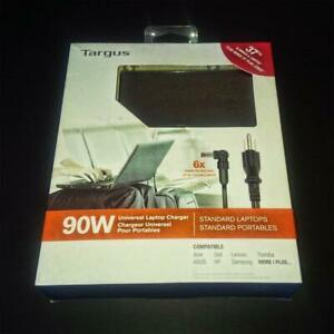 Targus 90 Watts Universal Laptop Charger + 6 Power Tips – New