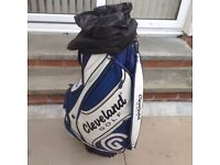 Cleveland Golf Bag. With Carry Strap and shower cover. Used but in very good condition