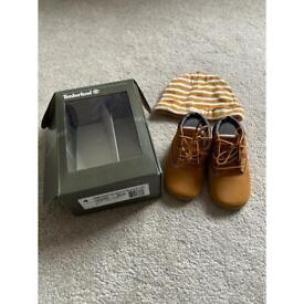Timberland booties and hat