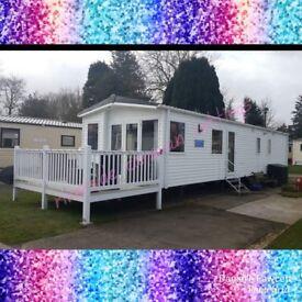 Beautiful Prestige Caravan 3 bedroom 8 berth CH, DG and Decking