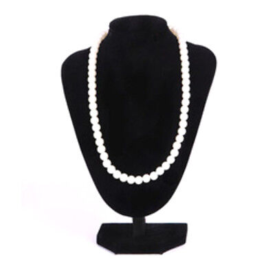 Black Velvet Necklace Pendant Jewelry Display Bust Stand Holder 1610cm