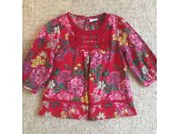 Flowery Top From Next - Age 5 - Excellent Condition - Kids Childrens Clothes