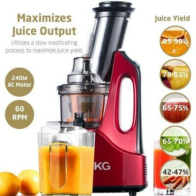 SKG Ample Chute Anti-Oxidation Slow Masticating Juicer Cold Press 2088  (Wine)