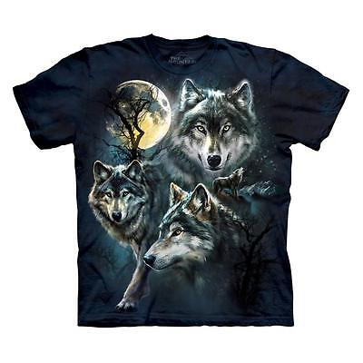 - MOON WOLVES COLLAGE ADULT T-SHIRT THE MOUNTAIN