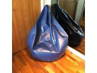 Adult sized blue beanbag / bean bag