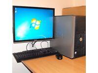 Dell 745 Windows 7 PC Dual Core Desktop Computer Complete 4GB RAM 160GB HDD Microsoft Office