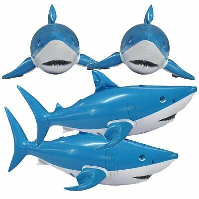 Jet Creations Inflatable Animals 4pcs Shark 24 inch Long- Best for Party Pool - Inflatable Animals