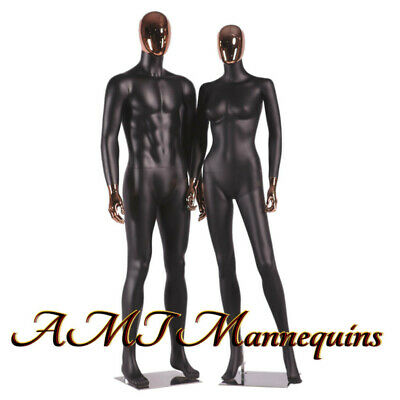 Female Male Full Body High End Mannequinsrose Golden Head Hands Black Couple