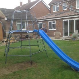 TP Challenger Climbing Frame with Slide & Jungle Run
