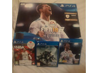 PS4 w/ 2 Controllers and 3 Games