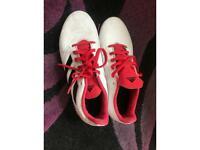 ADIDAS red & white PREDATORS ( football shoes )