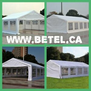SALE @ WWW.BETEL.CA || LARGE STEEL WEDDING PARTY EVENT TENTS || FREE DELIVERY!! $529& UP
