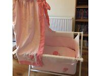 Mini cot bundle: cot, mattress cover, sheets, etc
