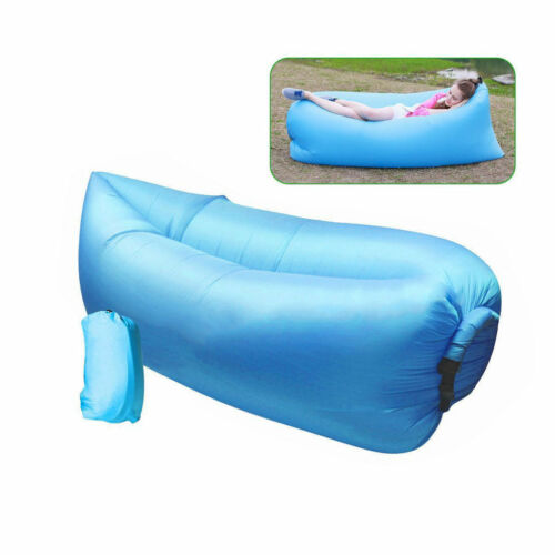 Lazy Sack Inflatable Air Sleeping Bag Folding Sofa Camping Sleep Bed 7 Ebay