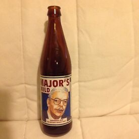 Empty beer bottle featuring John Major election c1990