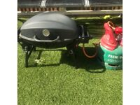 Gas BBQ with a gas cylinder