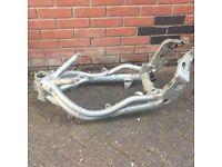 Triumph motor bike frame , street rat bike custome motorbike