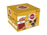 Pedigree Dog Food Adult Favourites in Jelly Pouches 48 pk (in 2 boxes of 24 pouches)