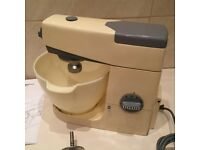 VINTAGE KENWOOD CHEF A701 FOOD MIXER WITH ATTACHMENTS - CREAM COLOUR